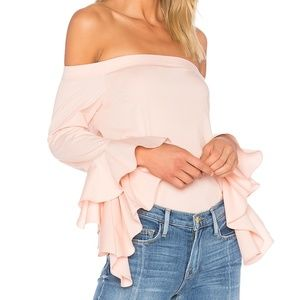 1. State Cascade sleeve top, size med
